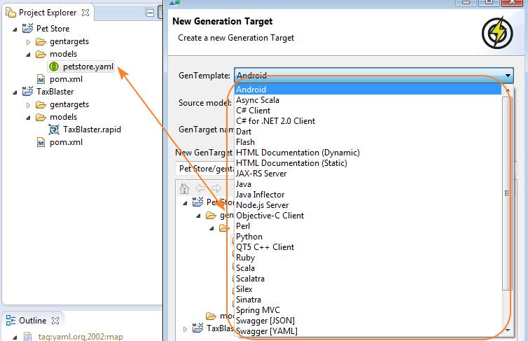 Using Swagger Codegen in RepreZen API Studio